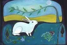"Rabbit Love / ""The other day when I was walking through the woods, I saw a rabbit standing in front of a candle making shadows of people on a tree.""  Stephen Wright"