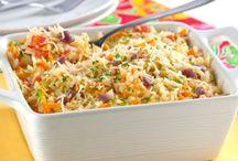 arroz e outros pratos