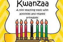 Kwanzaa Theme / This is a collection of Kwanzaa themed resources for your preschool, pre-K and Kindergarten aged children, to use both at school and at home. Make hands-on, interactive learning games and activities with these creative free, and low-cost printable pages.