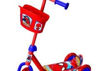 Spider-Man 3 Wheel Scooter with Baskets