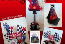 CAR RACING party decorations / Checkered flags and more!