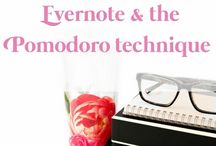 Evernote & the Pomodoro technique / Learn some great productivity techniques and tricks to get more done. Especially how to use Evernote and the 'Pomodoro technique.