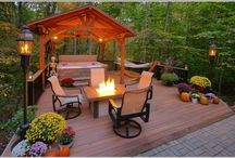 Woodland Deck and Hot tub