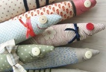 Sewn stuffed fishes