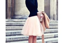 The tulle skirt