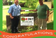 Fix-It 24/7's 100-Dollar Yard Contest Winners / Check out the lucky winners of our yard sign contest!