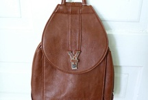 I want a brown leather backpack / by Kelly Hughes