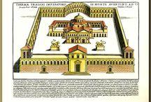 Architecture antique illustrations / Antique illustrations of architecture
