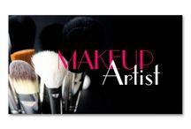 makeup artist visiting card