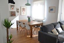 Sala de jantar e estar integradas