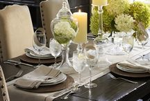 Table decor / There's nothing more special than a nicely decorated table, whatever the occasion big or small- get your best China out!