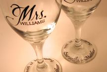 MR & MRS PERSONALISED GLASSES