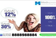 Medixpress / Medixpress- an online application is a  connecting link that serves you with various online pharmacy services like placing the order online for medicines with free home delivery services at discounted pricesNow save your time and money on your family prescription by getting 10% discount on online medicine and  30% discount on labs test.Download our free app on your smartphone.