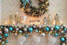 Christmas Fireplace & Mantel Holiday Decor