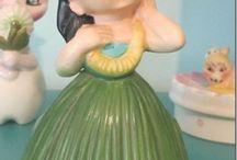 vintage hula dolls
