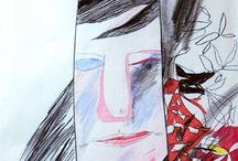 pencil colored illustration / illustration pencil colored, ilustraciones con lapices de colores