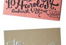 Hand Lettering, Mail and Envelopes