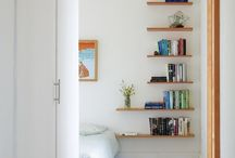 Shelving / mostly book shelves