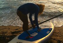 5.30am SUP Paddle In Fiji / Mandy heads out.