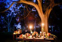 Wedding arch and night ceremony