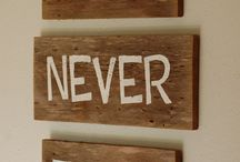 Wood Signs / DIY wood signs
