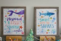 Mermaid Shark party ideas