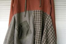 Upcycled hoodie dresses