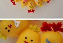 Tvoření z kinder vajec a víček