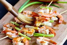 Food: BBQ/grill / Prawn with Asian flavours  / by Barely Poppins