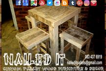 Custom Built Pallet Table & Chairs Sets / Custom built pallet wood furniture, Durban, Kwa-Zulu Natal. We will build your furniture and decor to your specifications and requirements. Indoor and outdoor. If it's made from wood, we'll build it. #palletfurnituredurban #palletfurnitureamanzimtoti #outdoorpalletfurniture #palletfurniturekzn #custompalletfurniture #palletwoodfurniture #custompalletfurnituredurban #custompalletwoodfurniture   #naileditpalletfurniture #naileditpalletfurniture #custompalletfurniture