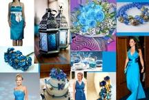 esküvői dekoráció kék
