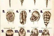 Hair styles / Hair designs for long hair