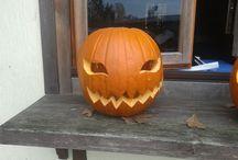 Pumpkin carving / holloween pumpkin carving jack o lantern