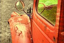 Old and rusty transportation  / When vehicles are left alone because they cannot run any more, there seems to still be a kind of beauty and a classy look to them. Just like our older generation.  / by Joy Long