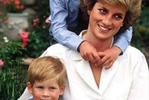 Prince Williame and prince Harry with mother Diana