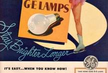GE LAMPS - oświetlenie na starej reklamie