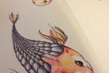 my moleskine / pages from my moleskine sketchbook