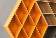 Rubika | Bookcase designed by George Bosnas / Inspired by everyone's favorite 80's toy, the Rubik's Cube, designer George Bosnas re-imagined the idea of a bookcase for the Greek brand Anesis. Rubika adds some visual delight to a standard bookcase by giving it the look of a three-dimensional cube.