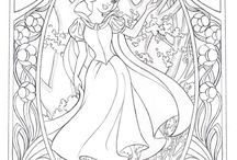 coloring princesses and princes