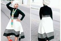 Xhosa, Tswana and Sotho traditional attire
