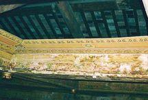 Soffitto ligneo / Tavole conponenti parte di un soffitto ligneo decorato e dipinto