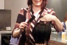 Razor class with Master stylist Mikhyla / Using a razor to cut hair is one of Master stylist Mikhyla's specialties. She began using a razor fairly quickly into her hair career through watching barbers, and feels there are never endng possibliites in what a razor can do.