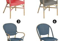 Bistro Chairs / Bistro chairs found at French bistros, brasseries and cafes around the world.