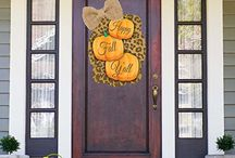 Fall Decor / Shut The Front Door by Unique Textile Printing offers a variety of garden flags, door decor, welcome mats and more.  Check us out at www.uniquetextileprinting.us