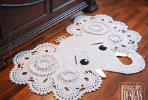crochet floor mats .