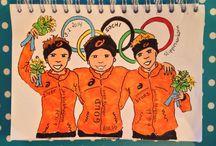 olympische spelen volgens de Stippies van Karin / Dit zijn de Stippies van Karin kijk ook op: http://www.pinterest.com/karinstalenburg/