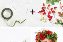 Flower hairbands/crowns