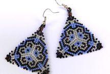 Triangle peyote earrings