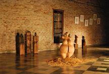 CICLICOS/AS /  Agosto 2013 | Centro Cultural Municipal Casa de Pepino | Córdoba | Argentina  Muestra individual de esculturas en madera y dibujos  Curaduría de Pablo Bisio