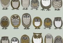 Doodling: owls, foxes etc